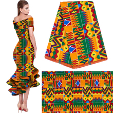 2020 Royal Wax Batik Prints Africa Fabric Pagne 100% Cotton Ankara Kente Real Wax Tissu Best Quality For Party Dress Handmake
