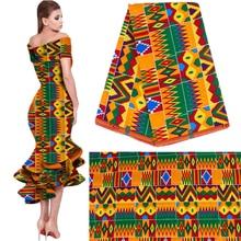 2020 Royal Wax Batik drukuje tkanina z afryki Pagne 100% bawełna Ankara Kente prawdziwy wosk Tissu najlepsza jakość na imprezę sukienka Handmake