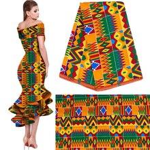 2020 kraliyet balmumu Batik baskılar afrika kumaş Pagne % 100% pamuk Ankara Kente gerçek balmumu Tissu için en iyi kalite parti elbise el yapımı