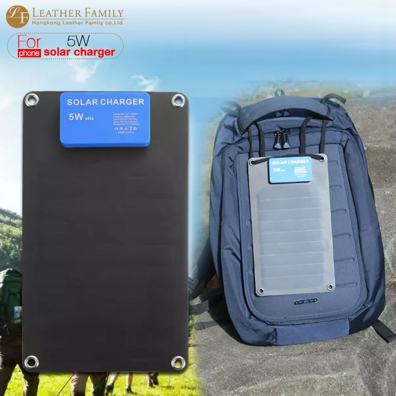 2600mah power bank USA 5W Solar charger panels External Power Bank Backup battery for iphone 6s 7 smartphone Outdoor Portable