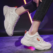 Sneakers 2019 Women Increasing Lace Up High Leisure Women Vulcanize Shoe Platform Breathable Casual Shoes Female Fashion Sneaker цена 2017
