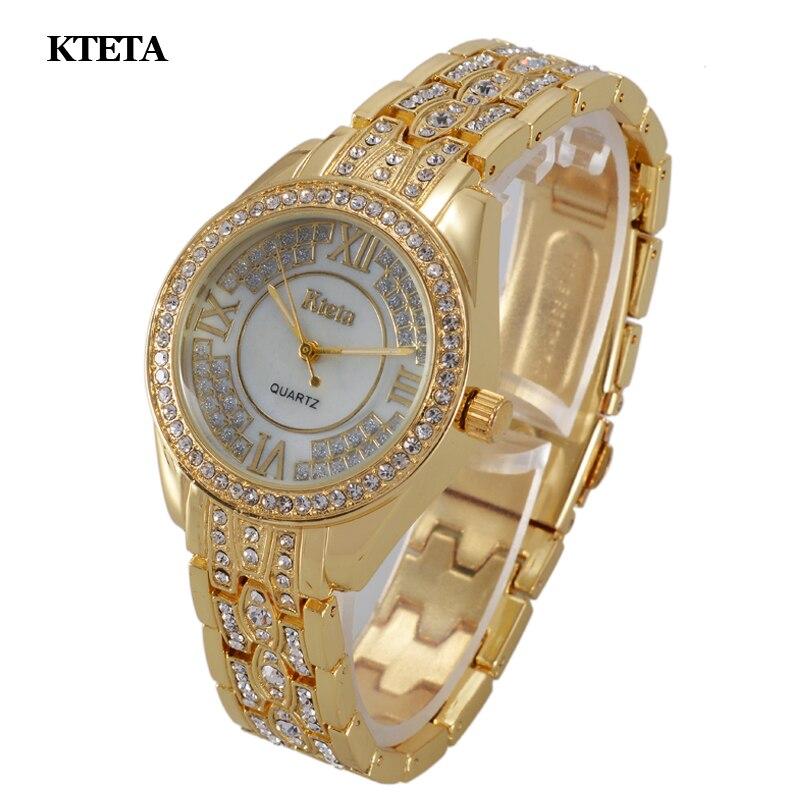 Reloj mujer gold quartz horloge vrouwen beroemde merk luxe diamant - Dameshorloges - Foto 2