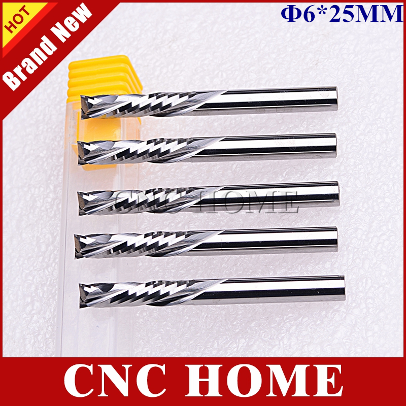2F Spiral DownCut CNC Carbide End Mill for Wood Working-Compression UpCuT