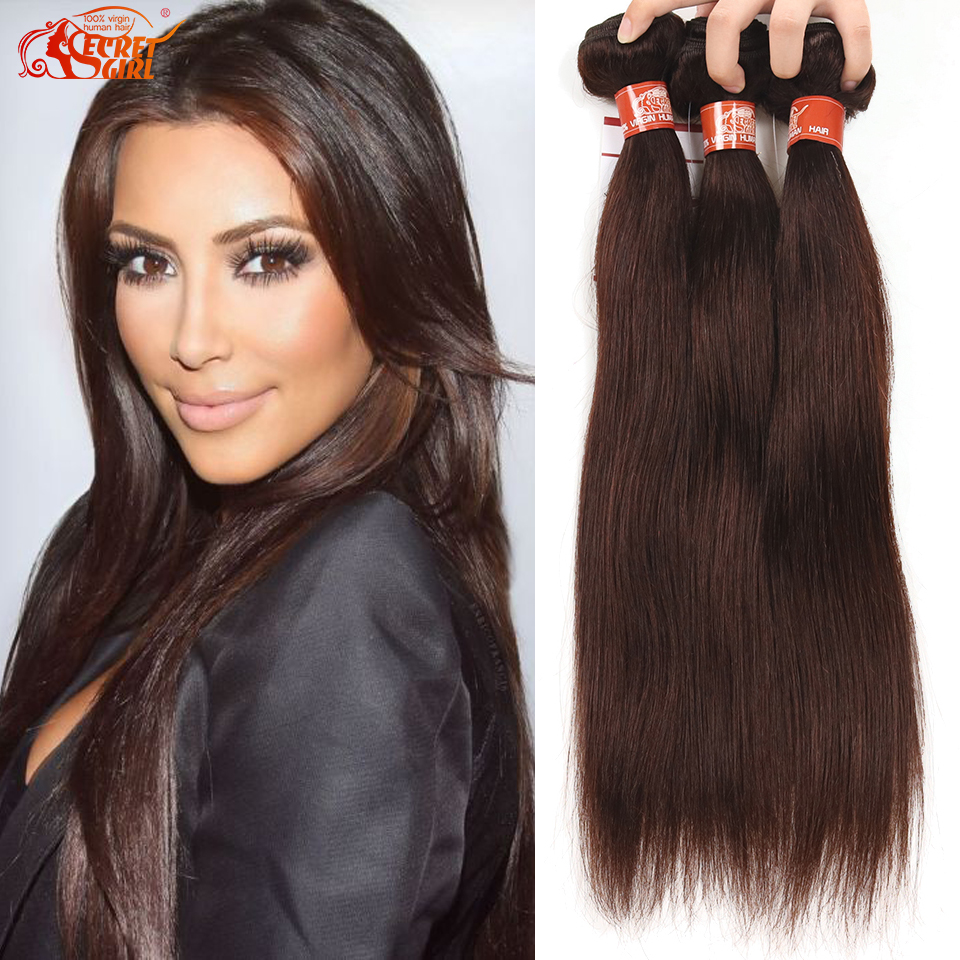 Brazilian Straight Hair Virgin Color 4 Weave Hair 3 Bundles Grade 7a