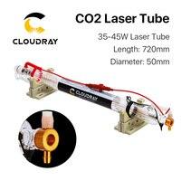 Cloudray Co2 лазерной трубки металлическая голова 700 мм 40 Вт стеклянная труба для CO2 лазерной гравировки, резки