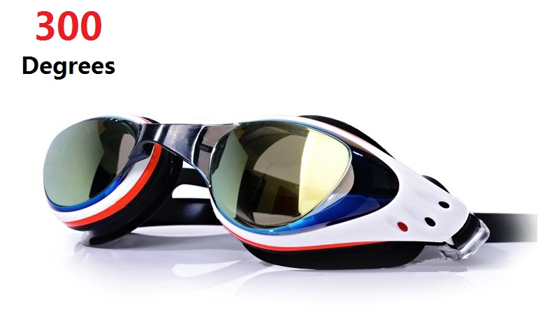 2PCS Swimming Glasses 300 Degrees Goggles Free Protection Case For Adult Men Women Youth Kids Child, Multiple Choice