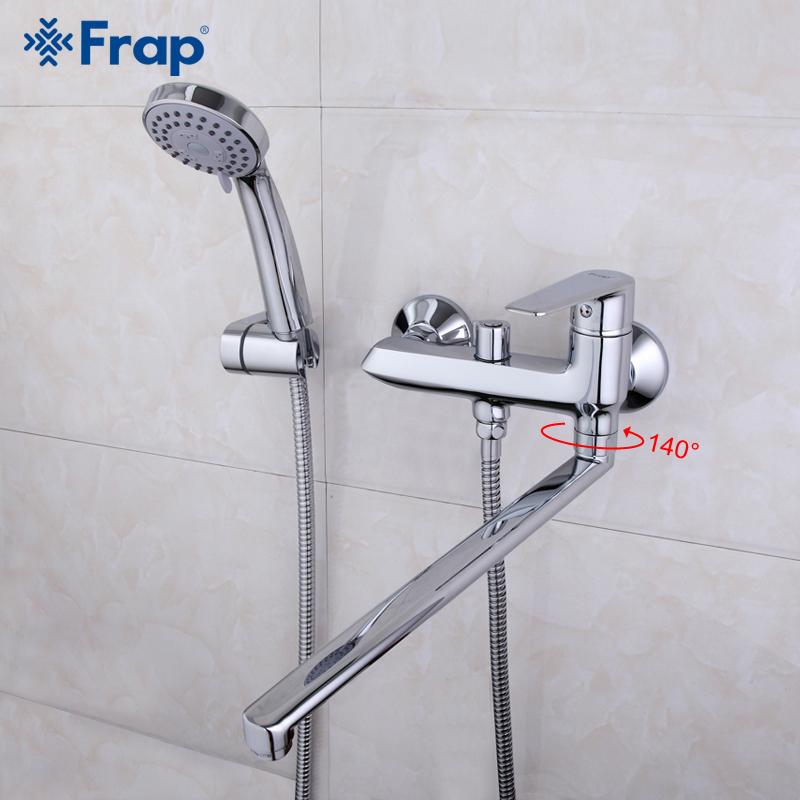 frap di alta qualit 40 cm lungo naso bagno doccia rubinetteria vasca da bagno rubinetto miscelatore