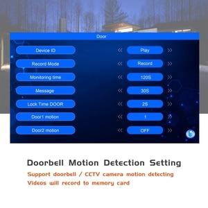 Image 4 - السلكية فيديو إنترفون HD 960P الفيديو باب الهاتف للمنزل 130 درجة الجرس كاميرا كشف الحركة سجل المنزل نظام اتصال داخلي كيت