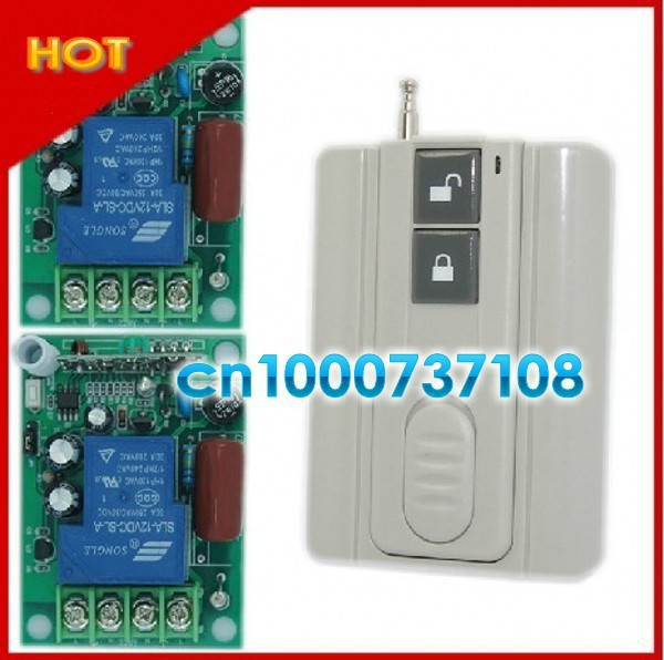220V 1channel rf wireless remote control switch 315MHZ 433MHZ garage door transmitter led 220v indicator