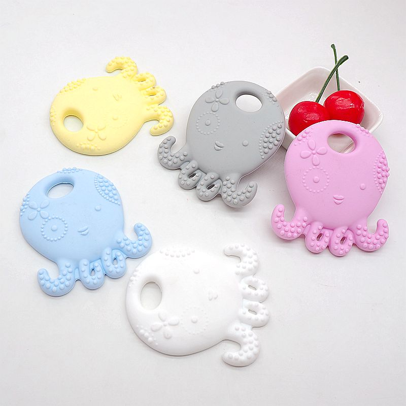 Chenkai 20PCS BPA Free Safe and Natual Silicone Octopus Teething Chewable Pendant Nursing Necklace Baby Pacifier