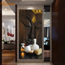 ALMUDENA античный холст настенная живопись Будда для праздничного подарка без рамки для гостиной украшение дома плакат и принты