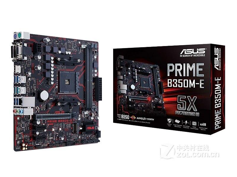 Бесплатная доставка оригинальная материнская плата для нового ASUS PRIME B350M-E розетка AM4 DDR4 USB3.0 64 Гб SATA3 настольная материнская плата