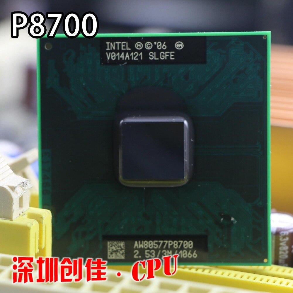 Freies verschiffen Core 2 Duo Mobile Intel P8700 Dual Core 2,53 GHz 3 Mt 1066 MHz Buchse 478 CPU Prozessor
