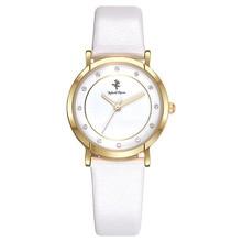 Disney brand white leather quartz watches for women minni mouse luxury diamond waterproof ladies clocks brown pink black band