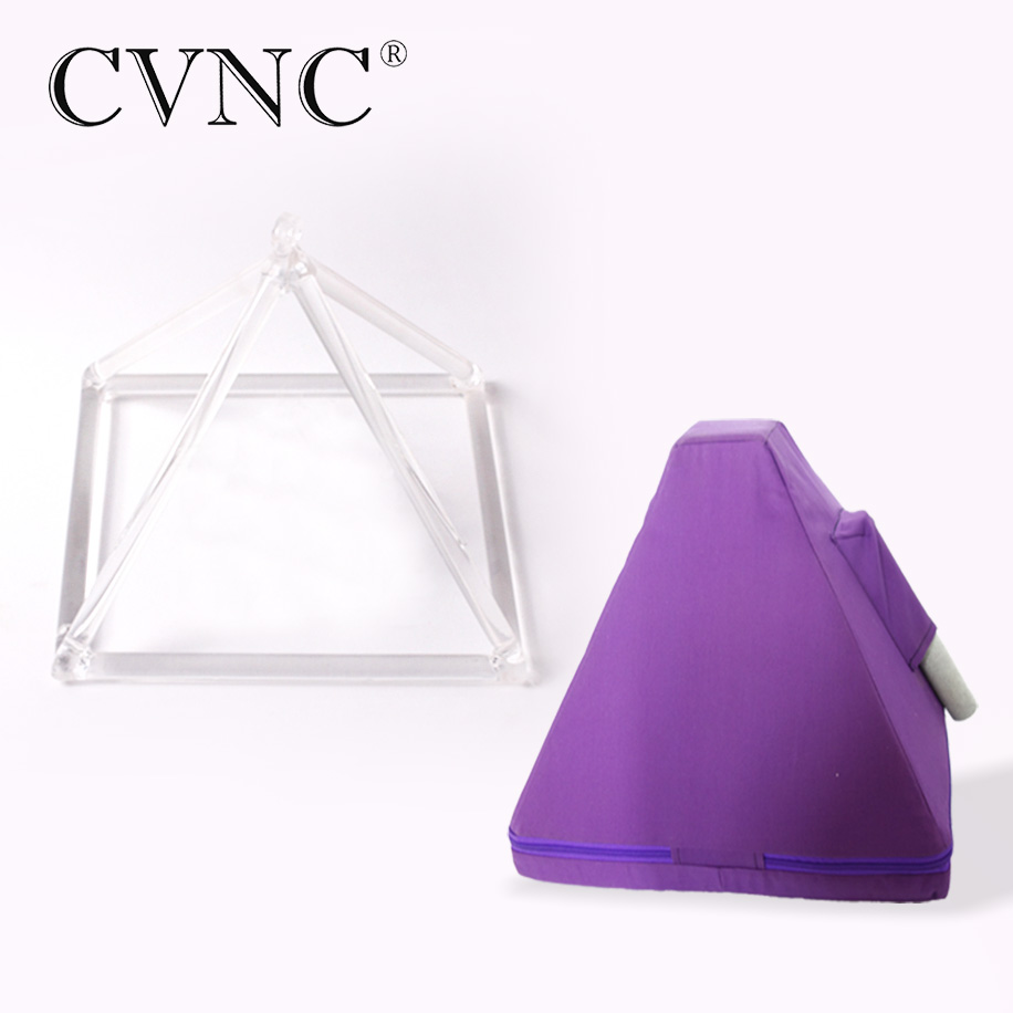 CVNC 5  Chakra Clear Quartz Crystal Singing Pyramid with Canvas bag CVNC 5  Chakra Clear Quartz Crystal Singing Pyramid with Canvas bag