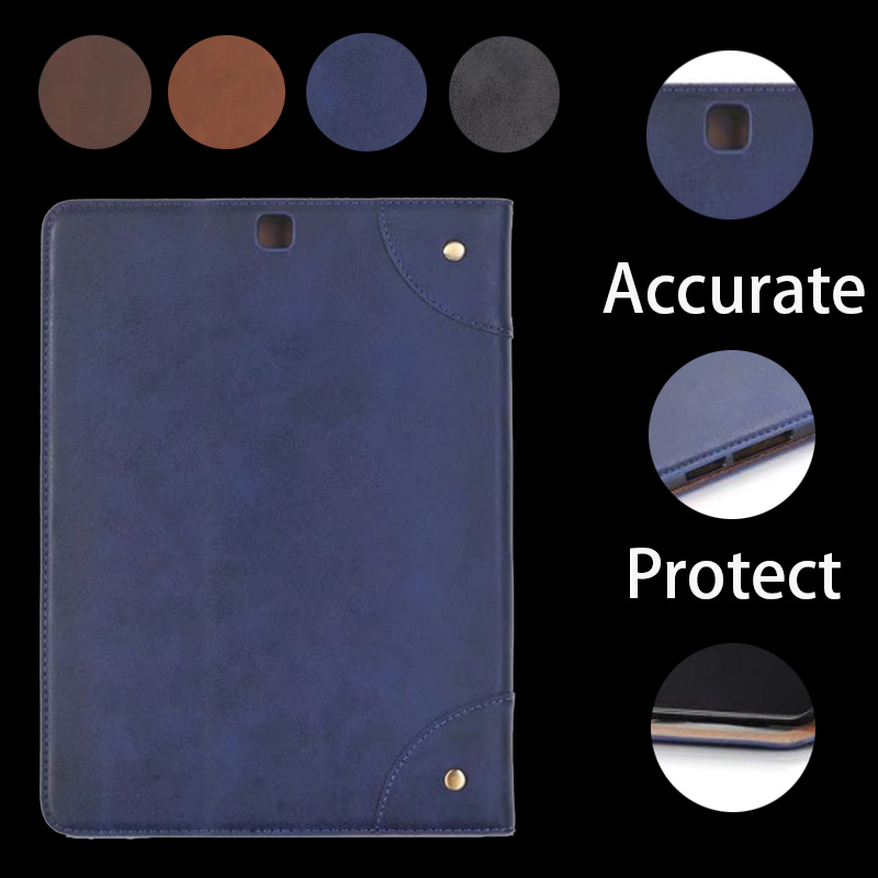 Business Leather Case For Samsung Galaxy Tab S2 8.0 T710 T715 8.0 inch Tablet Support stand Cover with Card Solts luxury flip stand case for samsung galaxy tab 3 10 1 p5200 p5210 p5220 tablet 10 1 inch pu leather protective cover for tab3