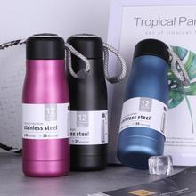 New Arrival 420ml Thermos Cup Water Bottle Stainless Steel Thermo Cup Vacuum Thermal Mug Birthday Bottle Couple Gift Kid Friend creative stainless steel simulation slr camera lens thermos mug cup w cup lid black 420ml