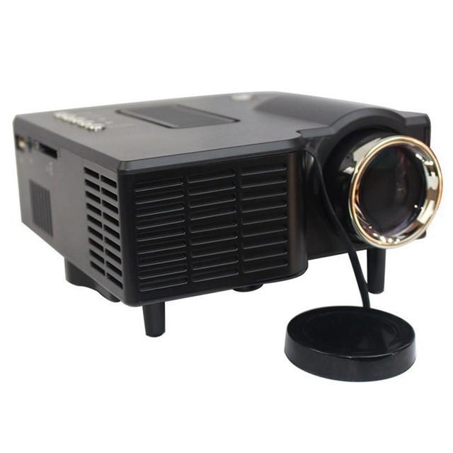 "Full HD 60 ""HD Portátil mini LED Projector Cinema Home Theater Vídeo Suporte PC Laptop entrada VGA"