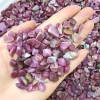 1000g Natural Crystal Red Tourmaline Gravel Rock Quartz Raw Gemstone Mineral Specimen Fish Tank Decoration Stone