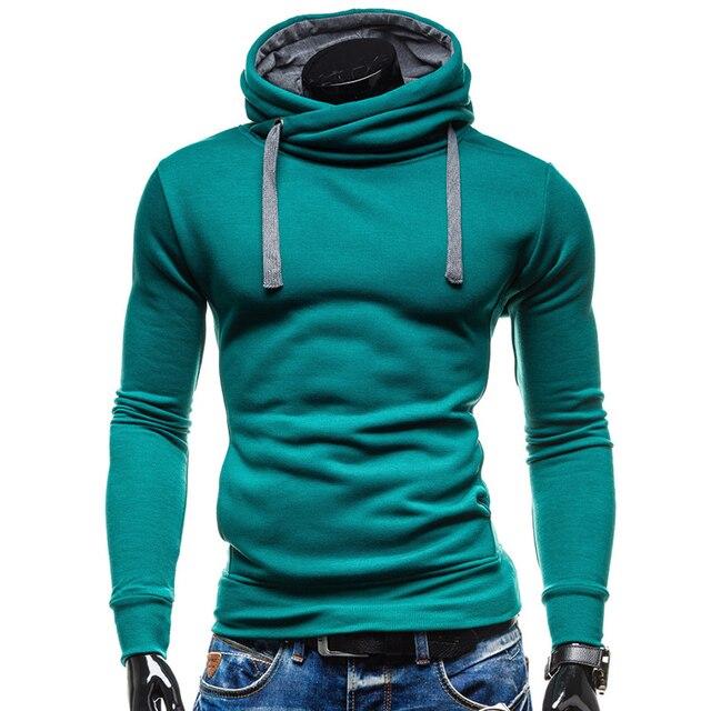 87e458861a32 € 10.6 |Aliexpress.com: Comprar 2018 Sudaderas con capucha de los hombres  Sudaderas Hombre Hip Hop para Hombre de la marca de Color sólido de cuello  ...
