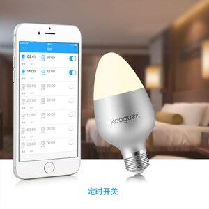 Image 5 - Koogeek Thông Minh WiFi Bóng E27 8W Đổi Màu Mờ Bóng Đèn LED Hoạt Động Với Apple HomeKit Hỗ Trợ Siri Lịch Trình hẹn Giờ