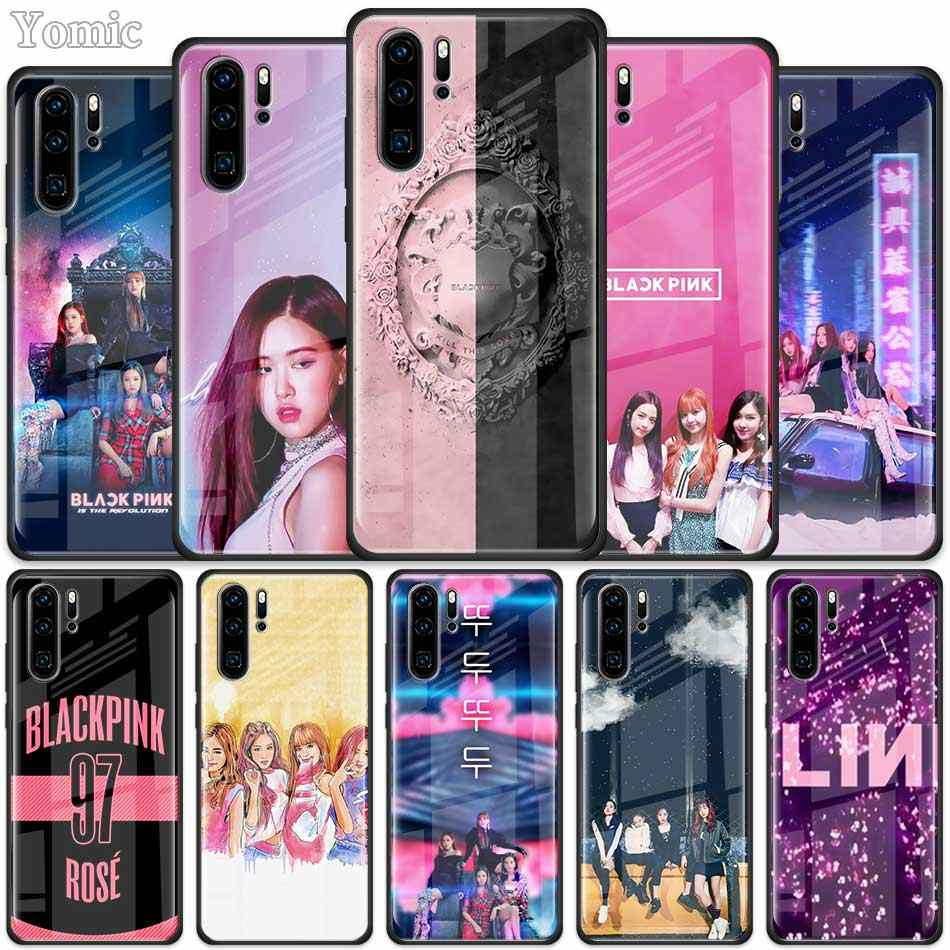BLACK PINK BLACKPINK kpop Tempered Glass Case for Huawei P30 Pro P10 P20 P30 Lite Mate 10 20 Pro Honor 20 Pro 8X Cover Shell
