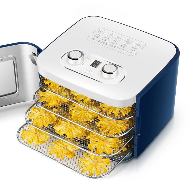 Déshydrateur alimentaire fruits secs Machine séchoir à fruits ménage petit Pet Snack fruits et légumes 4 étages de grand espace