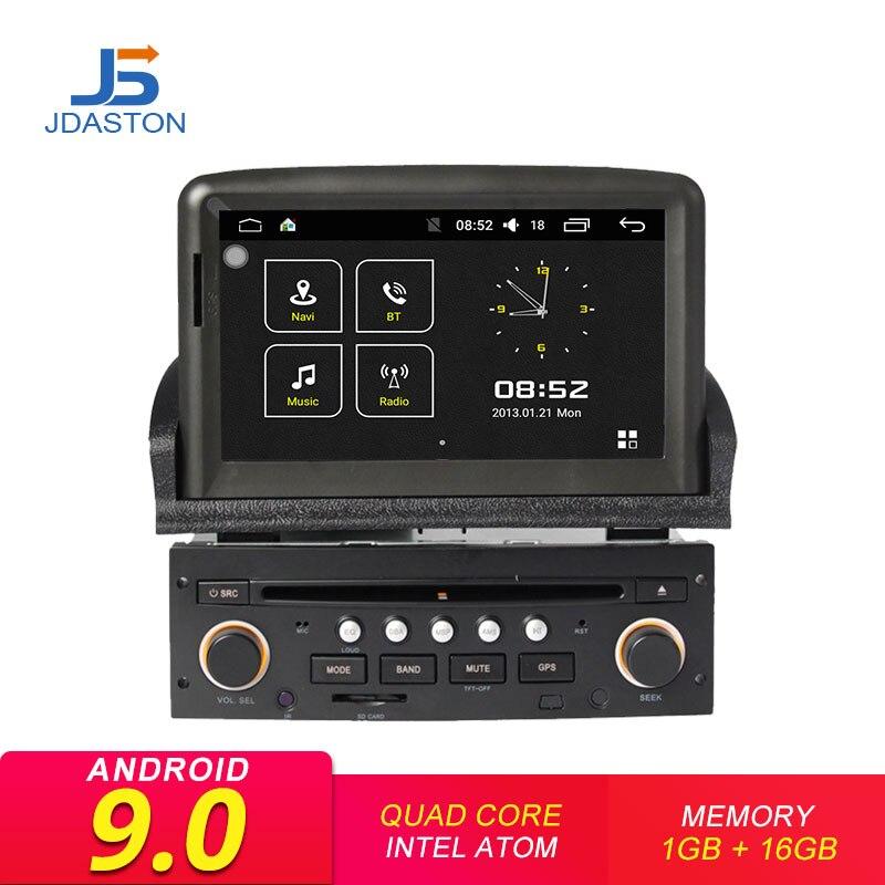 Autoradio JDASTON Android 9.0 1 Din pour PEUGEOT 307 2008 2009 2010 2011 lecteur DVD de voiture WIFI Navigation GPS multimédia Canbus