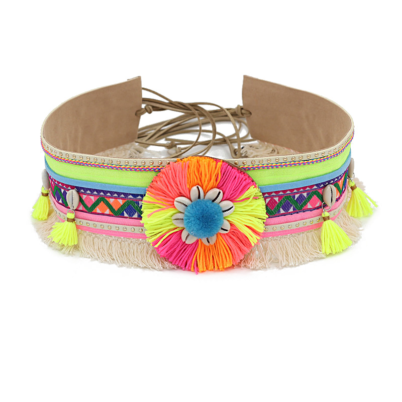 Women's Bohemian Waist   Belt   Tassel Boho Fringed Shell Summer Beach Fashion Accessories Female Decoration   Belt   for Dress