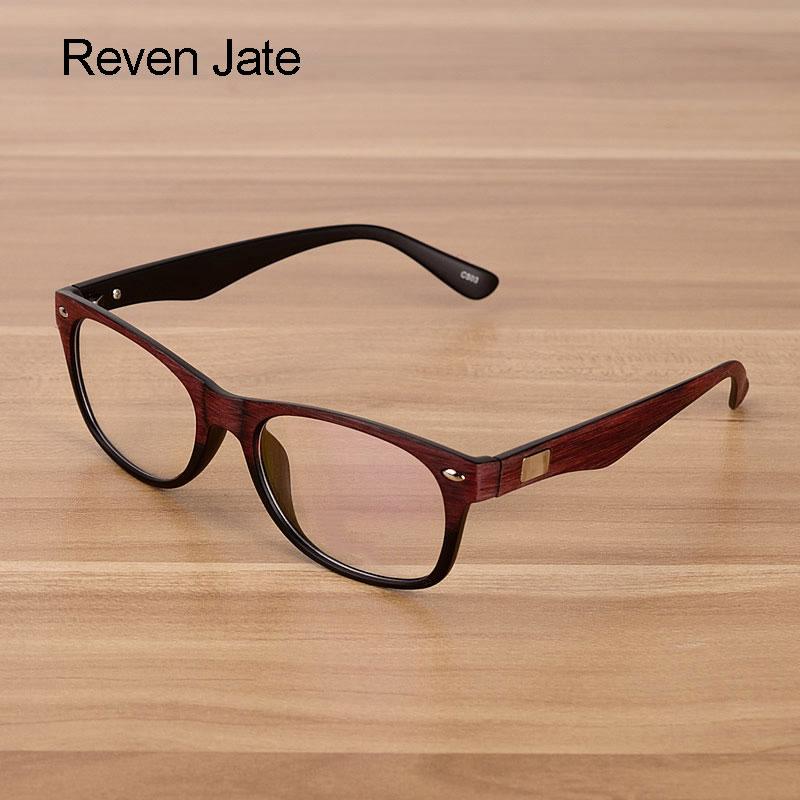 Reven Jate Men And Women Unisex Wooden Pattern Fashion Optical Spectacles Eyeglasses High Quality Glasses Frame Optical Eyewear