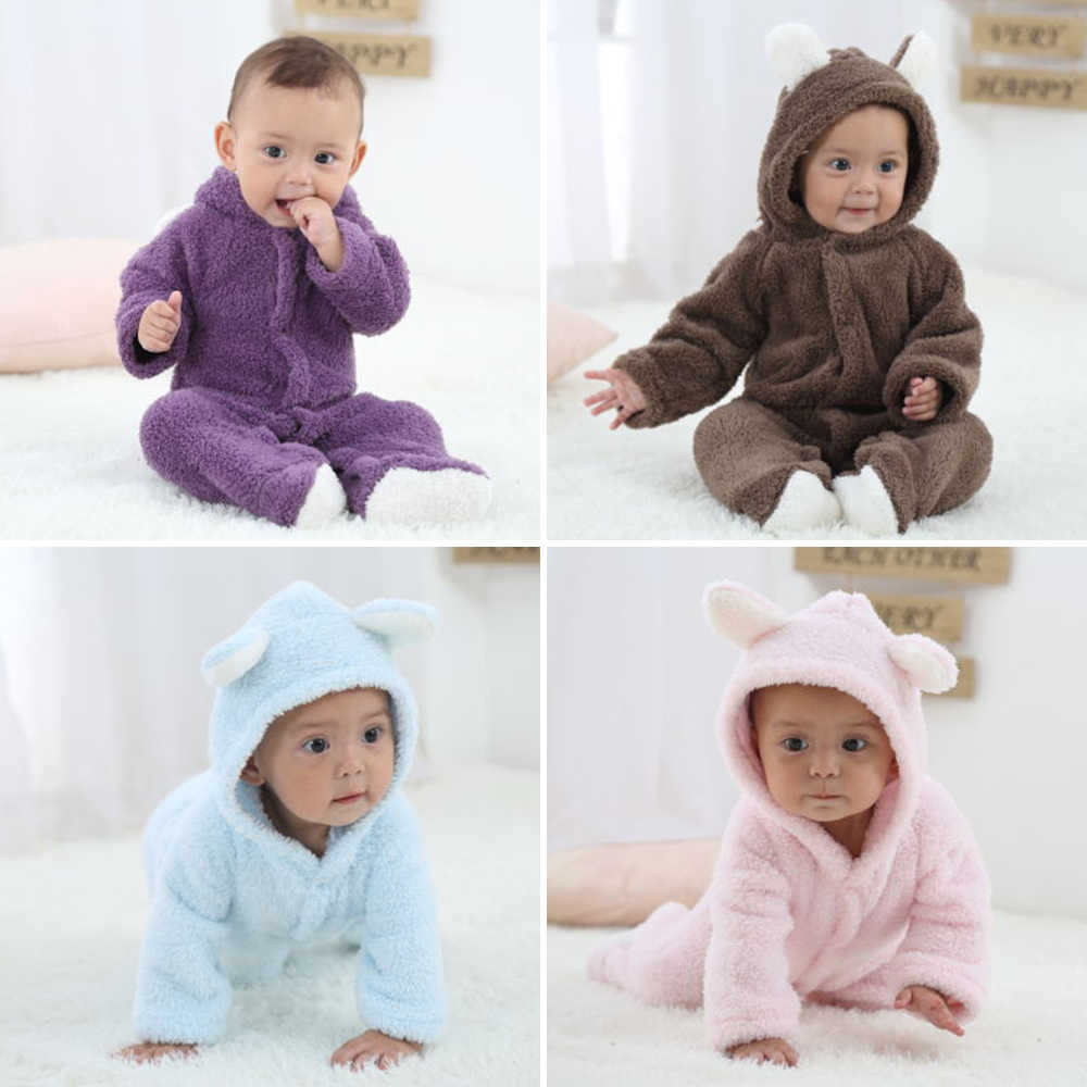 824eb811f5f Baby Clothes Infant Romper Baby Winter Romper Boys Girls Jumpsuit Newborn  Baby Clothing Hooded Toddler Cute