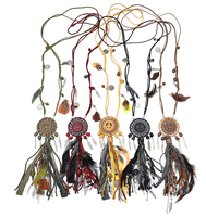 2015 New Handmade Bohemian Jewelry Dream Catcher Charm Necklace Feather Pendant Necklace Bib Statement Tassel Necklace