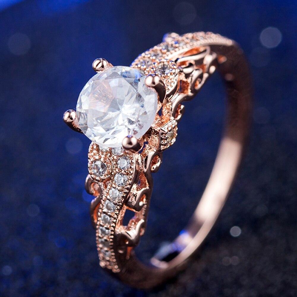 TJP принцессы невесты обещание обручальное кольцо Jewelry топ Quatity 925 серебро хрустальные камни палец аксессуар Для женщин