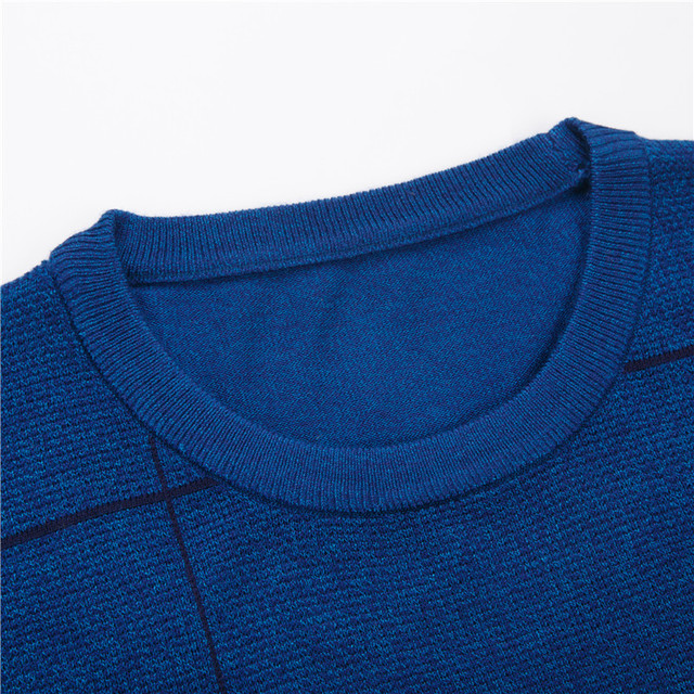 Casual Mens O-neck Slim Fit Knitting Sweaters  4