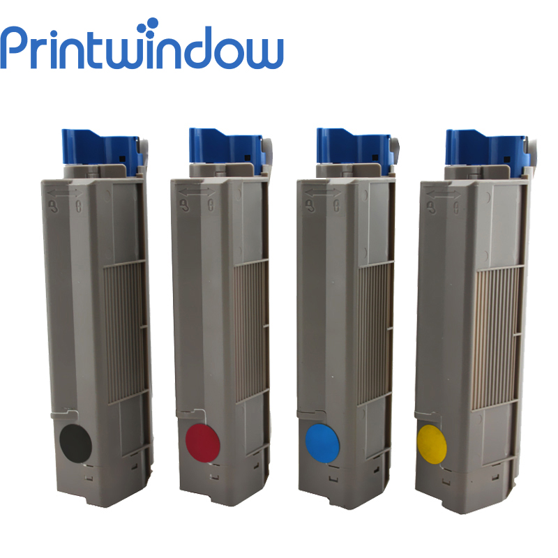 Printwindow Compatible Toner Cartridge for OKI C6050/C6150 2x non oem toner cartridges compatible for oki b401 b401dn mb441 mb451 44992402 44992401 2500pages free shipping