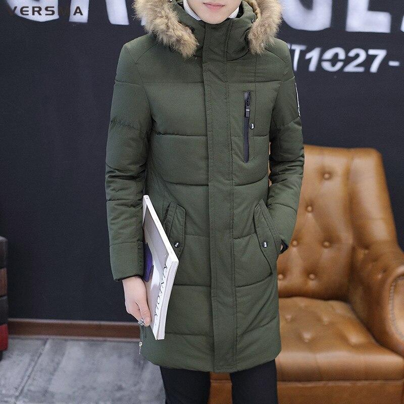 VERSMA Stylish Youth Long Padded Winter Jacket Coat Men Parka Warm Hooded Long Mens Canada Russian Winter Jackets Coats Parkas