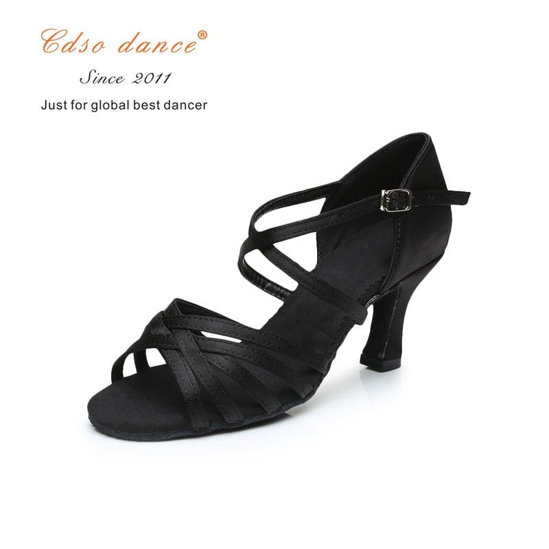 Sports & Entertainment Cdso Dance Shoes Satin/pu Popuplar High Quality Latin Dance Shoes For Women/ladies/tango&salsa 5.5cm /7cm Heel