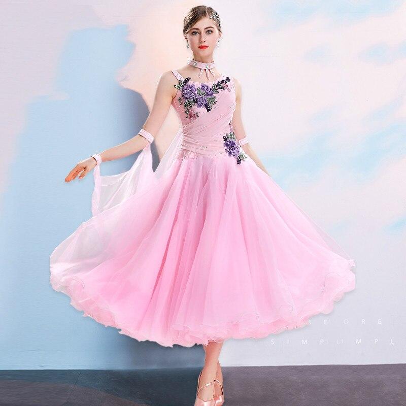 Modern Ballroom Dance Dress New Women's National Standard Dancing Professional Competition Dress Dancer Performance Wear H2479