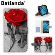 Красная Роза кожаный чехол для Motorola Moto X Стиль XT1572 XT1570 телефон сумка чехол Роскошный кошелек Стиль стенд В виде ракушки