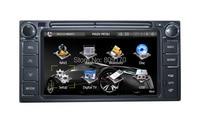 Venta! 2 DIN Coche reproductor de DVD para Toyota Universal con GPS navegación de Radio TV BT menú Ruso + Free 8G Mapa + Libre de TV Analógica antena