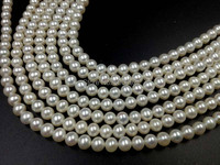 AA+ Stunning wholesale 6mm near round freshwater pearl