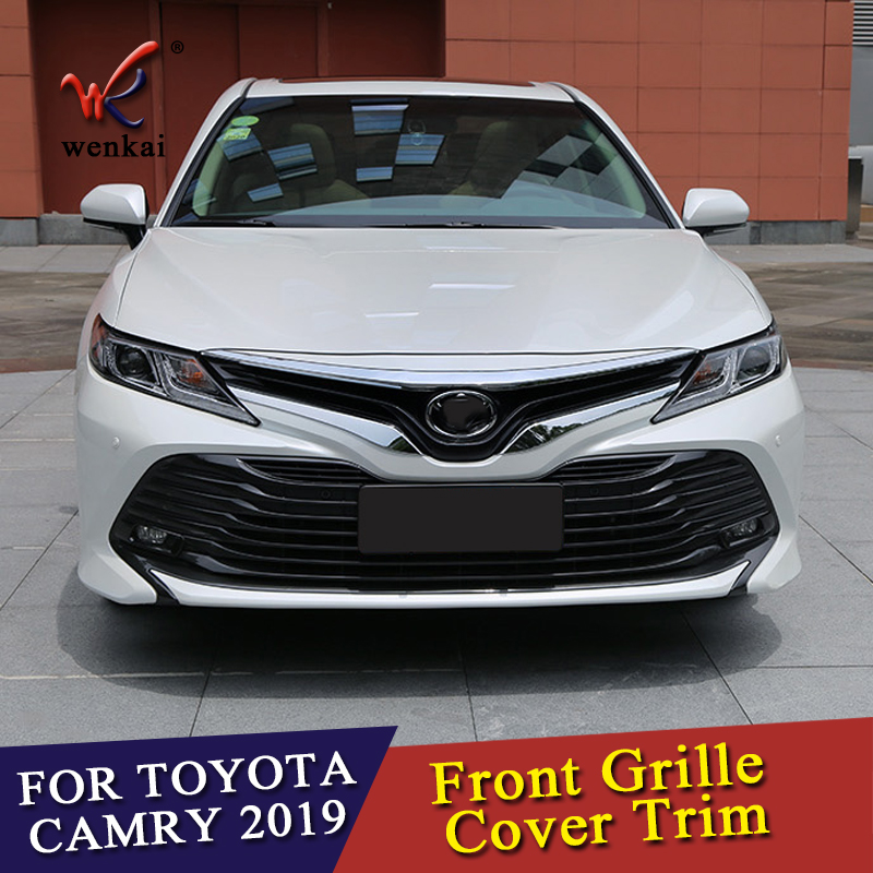 Front Head Grille Grill Engine Cover Trim Accessories For Toyota Camry 2018 2019