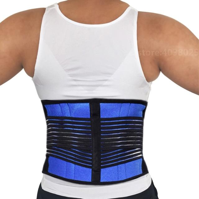 Neoprene Sports Waist Posture Corrector Belt Lumbar Support Back Brace Household Pressurized Disc Herniation Tummy Trimmer Belt