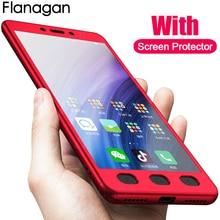 Xiaomi Redmi Için FlanaGan Lüks 360 Derece Tam Kapak Kutuları 4X 4A 5 Artı 5A telefon kılıfı Için Redmi Not 4 4X Not 5 5A Ile Ca...
