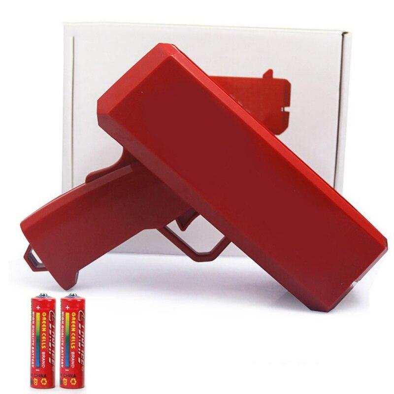 Shot Decompression Squirting Money Gun Spit Banknotes Gun Fidget Toys Cash Cannon Spray Make It Rain