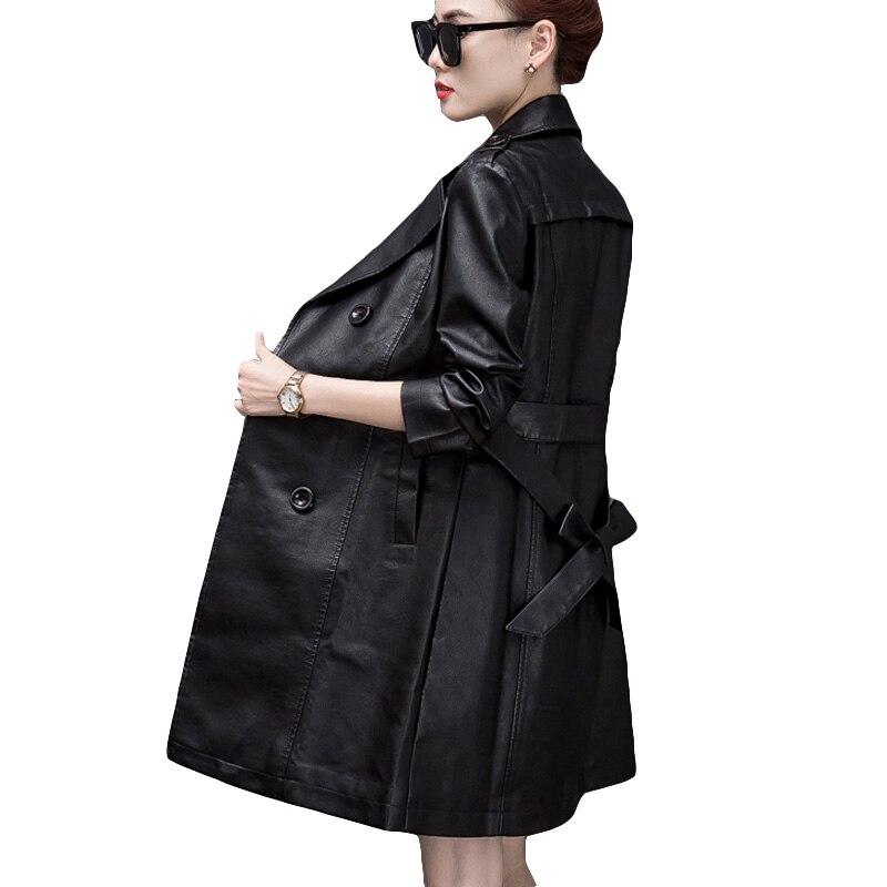 52486d1f6b1c Rivestimento Lungo Di Il Formato Cappotti Giacca Sportiva Modo Sottile Tuta  Più Qualità Donne Della 5xl Black Autunno ...