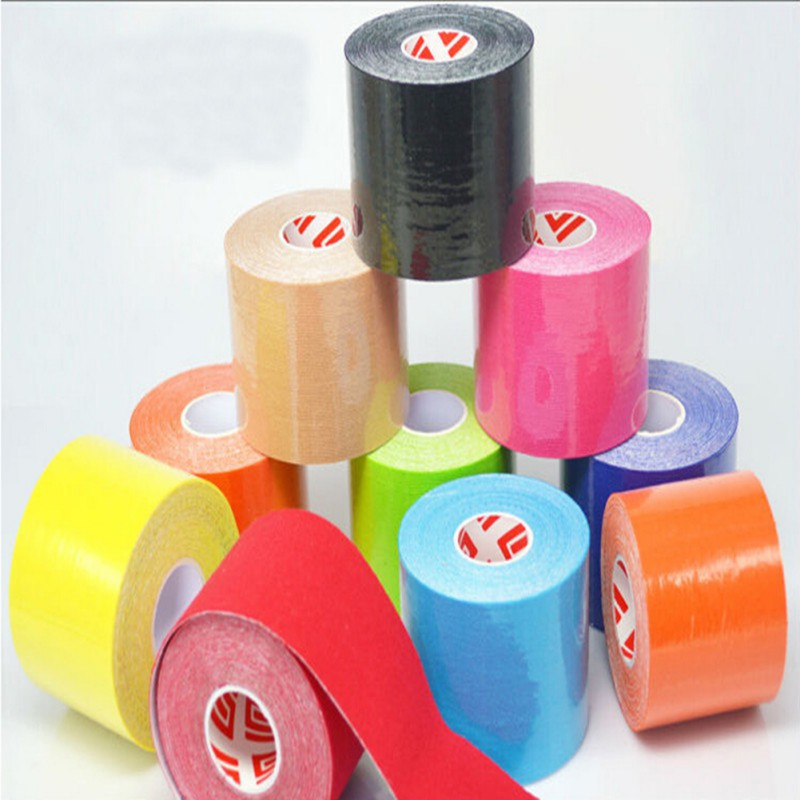 Muscle Tape 5M Sports Tape Kinesiology Tape Cotton Elastic Adhesive Muscle Bandage Care Physio Strain Injury Support 10 Colors H