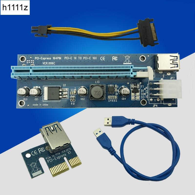 USB 3.0 PCI-E Express 1x to16x Extender Riser Card Adaptateur avec 60 cm USB 3.0 Câble D'extension pour Bitcoin BTC Mineur Minière Dispositif
