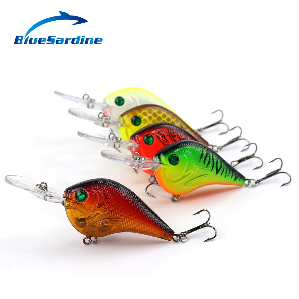 BlueSardine Fishing Lure Deep Swimming Crankbait 10cm 10.8g Hard Bait 5 Colors Wobbler Slow Floating Fishing Tackle