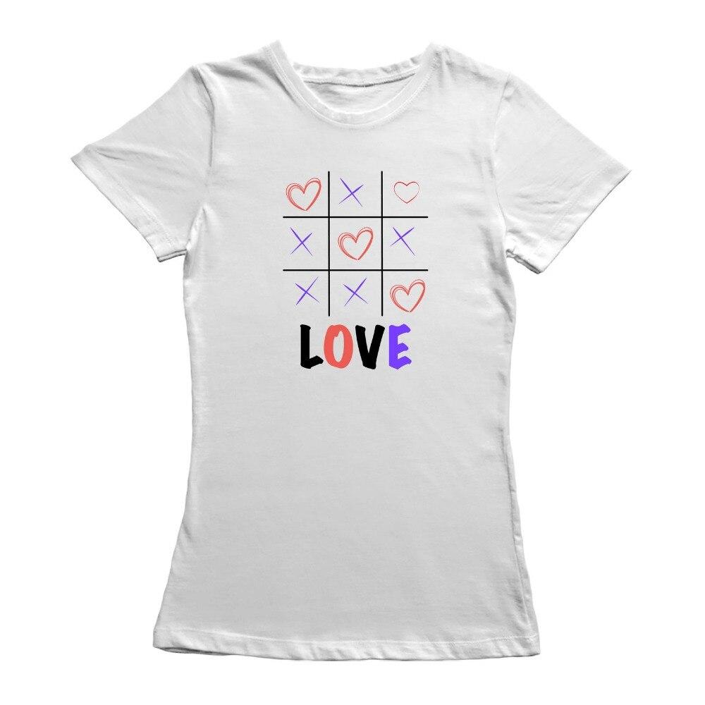 Clothing T Shirt Crew Neck Short Tic Tac Toe Love Compression Womens T Shirts ...